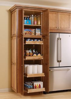 Pantry/Utility With Sliding Shelves From Thomasville