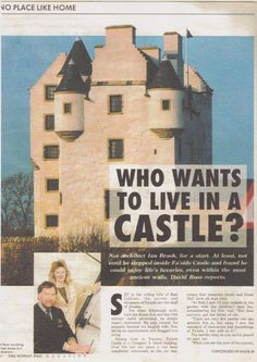 Article about Faside Castle. Holiday Accommodation, Step Inside, Ancestry, Edinburgh, At Least, Reception, Castle, Places, Life