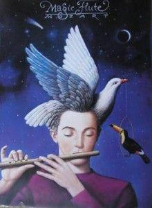 Papageno the Bird Catcher in Mozart's magical opera The Magic Flute or Die Zauberflote