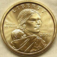 2000 D Sacajawea Golden Dollars Uncirculated U.S Mint ORG Wrapped $25 Coin Roll