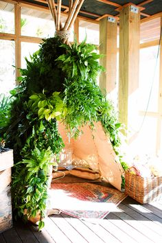 Who says you can't create a little homemade retreat in the form of a tepee?