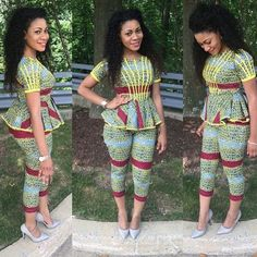 African Print Outfit ~African fashion, Ankara, kitenge, African women dresses, African pri… – African Fashion Dresses - African Styles for Ladies African Inspired Fashion, African Dresses For Women, African Print Dresses, African Print Fashion, Africa Fashion, African Attire, African Wear, African Fashion Dresses, African Women