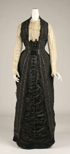 Dress (European) ca. 1877 silk