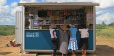 The SOLARKIOSK provides power, clean water and goods to remote areas!