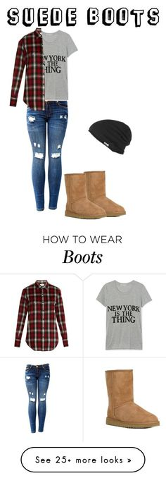 """Trend: suede boots"" by seetherfan17 on Polyvore featuring UGG Australia, Rebecca Minkoff, Yves Saint Laurent and RVCA"