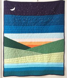 Amazing patchwork quilts - look at our guide for additional tips and hints! Boy Quilts, Mini Quilts, Strip Quilts, History Of Quilting, Landscape Art Quilts, Nancy Zieman, Quilt Modernen, Patchwork Quilting, Quilting Fabric