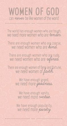 Wow..... this is a powerful reminder that women have a divine purpose on earth.