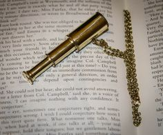 Working Collapsible Brass Telescope Spyglass Steampunk Charm Necklace. $10.00, via Etsy.