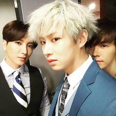Leeteuk 이특, Heechul 희철, and Donghae 동해 from Super Junior 슈퍼주니어 '15