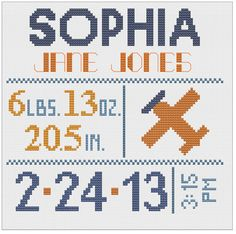 Customized Cross Stitch for Baby