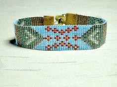 Beaded Bracelet - Bead Woven Bracelet - Tribal Bracelet - Adjustable Bracelet - Bohemian Bead Bracelet - Gifts For Her - Under 25