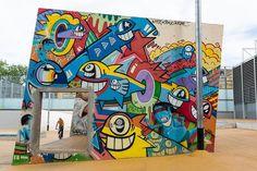 Street Art en Barcelona, en Skate Park