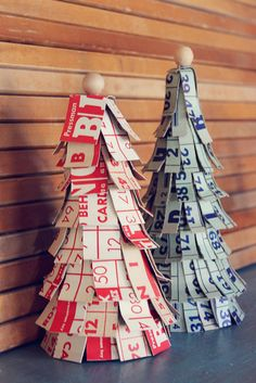 bingo trees - need to make these next year for Bingo Christmas decorations