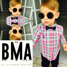 One of my little clients with his bow tie looking very stylish!