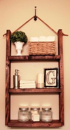 Little shelf in bathroom - so neat!