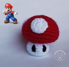 Cogumelo (Super Mushroom) - Amigurumi