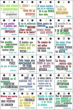 Motivation signs in Spanish