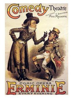 Vintage Theatre Poster -  Comedy Theatre - 1885