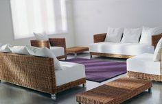 Collections | Gervasoni | Net Outdoor Sectional, Sectional Sofa, Rattan Sofa, Outdoor Furniture, Outdoor Decor, Designer, Indoor, Living Rooms, Miniature