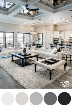 Need inspiration for your winter home decor? Embrace the shades of the season with a color palette of white, gray, charcoal and black. | Pulte Homes