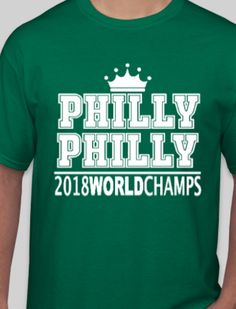 d0d75db78 Eagles World Champions T-Shirt - Philly Philly. Nfc East ChampionsSuperbowl  ChampionsFootball HelmetsFootball ShirtsNfl ...