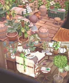 acnl Another house of plants ?o - Animal Crossing - U Animal Crossing Pocket Camp, Animal Crossing Game, Motif Acnl, Ac New Leaf, Happy Home Designer, Animal Games, Tumblr Wallpaper, Folk, Sanrio