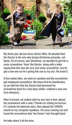For Doctor Who families. I don't watch doctor who (I wish I did long story) but this is absolutely adorable! Doctor Who, Doctor Stuff, Eleventh Doctor, Dr Who, Space Man, Sherlock, Serie Doctor, Parenting Done Right, Parenting Win