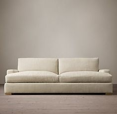 RH's Maxwell Upholstered Daybed:Maxwell's streamlined design features a low back and wide, squared-off seat and back cushions.