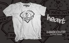 Madeover clothing - HEART - pánské Madeover clothingtriko v s designemHEART! Sítotiskem potisklé triko vytvořené pro všechny kteří se nebojí lopaty a budují spoty na ježdění! MADEOVER CLOTHING - APPAREL FOR DESTROY
