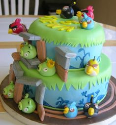 Cake Decorating Ideas  Project On Craftsy Angry Birds For