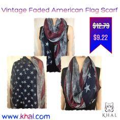 Vintage Faded American Flag Scarf / Red White & Blue Scarf / 4th of July Scarf / Vintage Scarf / Team USA / American Flag / Gift for Her  https://www.khal.com/products/vintage-faded-american-flag-scarf-red-white-blue-scarf-4th-of-july-scarf-vintage-scarf-team-usa-american-flag-gift-for-her  #khal #khal.com #scarf #girl #gift #Summer offer #Deals #online shopping #shopping #flags #flag#day