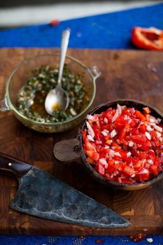 Salsa Criolla and Chimichurri