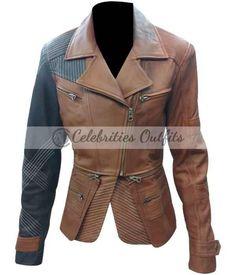 #Defiance TV Series Julie Benz Brown #leatherjacket  #jacket