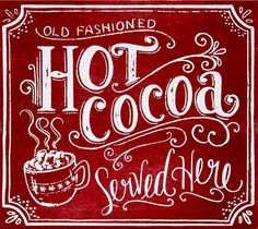 I loved this so much that I bought one! (Gotta have my hot chocolate station every Christmas) Christmas Kitchen, Noel Christmas, Christmas Signs, Country Christmas, Winter Christmas, All Things Christmas, Vintage Christmas, Christmas Crafts, Christmas Decorations