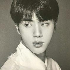 jin dark and white at DuckDuckGo Bts Jin, Jimin, Seokjin, Super Mario, Taehyung, Rap, Bts Beautiful, Bts Face, Wings Tour