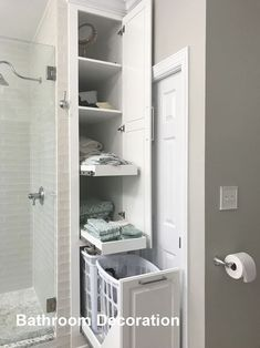 bathroom ideas small on a budget \ bathroom ideas ` bathroom ideas small ` bathroom ideas on a budget ` bathroom ideas modern ` bathroom ideas master ` bathroom ideas apartment ` bathroom ideas diy ` bathroom ideas small on a budget Bathroom Closet, Bathroom Renos, Bathroom Interior, Bathroom Towels, Barn Bathroom, Bathroom Vanities, Bathroom Remodel Small, Linen Cabinet In Bathroom, Budget Bathroom