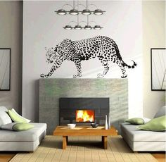 Animal Walk Leopard African Leopard wall decal sticker baby kids living room