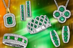 Emerald, with its rich green reflecting the colors of spring, has been treasured for thousands of years as an emblem of rebirth and enduring love. Jewelry set with emeralds are an ideal gift for those you love as well as anyone born during the month of May for which Emerald is their birthstone.