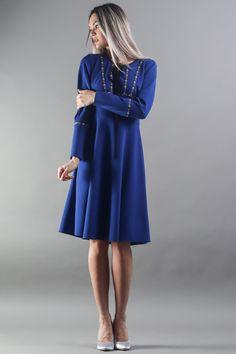 Work Fashion, Elegant Dresses, Street Wear, Dresses With Sleeves, Long Sleeve, Stylish Dresses, Sleeve Dresses, Long Dress Patterns, Dress Up Clothes