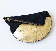 If You Gild It… DIY Gold Leaf Clutch via Brit + Co.