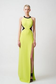Gorgeous maxi-dress. I love the shape. This colour is not for me, though... (From Michael Kors Resort Collection)