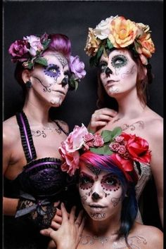 the similarities and differences in each is a great example of the many different interpretations possible in Dia De Los Muertos celebration.