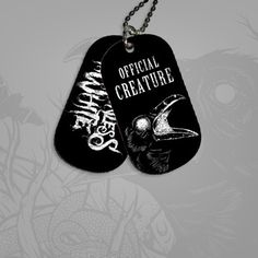 Motionless In White///Creatures Dog Tags I am a Creature and half a Maggot (Slipknot fan)
