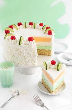 Tropical Sherbet Cake Recipe /sprinklebakes/