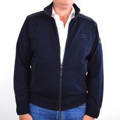 Paul & Shark vest, basis 100% wol donkerblauw