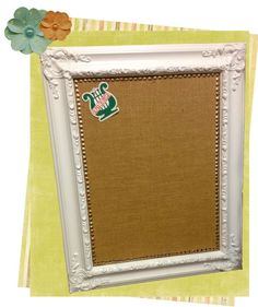DIY Framed Burlap Bulletin Board