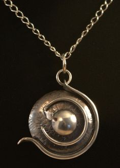 Fosilia: another distinctive piece of silver jewellery by Ron Smith. Lots more at silverbysmith.ca Silver Jewellery, Handcrafted Jewelry, Polymer Clay, Necklaces, Pendant Necklace, Jewels, Handmade Chain Jewelry, Handmade Jewelry, Handmade Jewellery