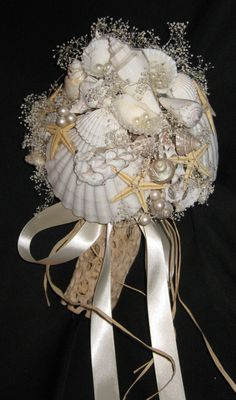Seashell bouquet ~#repinned by Lori Cole for California Bridal Eventz