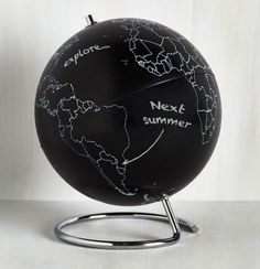 A globe that's perfect for taking notes on (or for planning your next vacation).