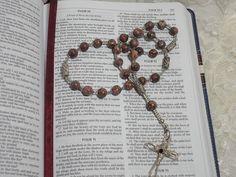Leopardskin Jasper Christian Prayer Beads by kristanscross on Etsy, $29.50